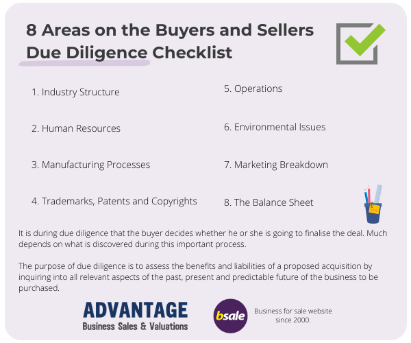 8 Areas on a Buyers and Sellers Due Diligence Checklist