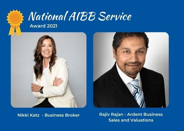 AIBB Service Award Winners - Nikki Katz and Rajiv Rajan