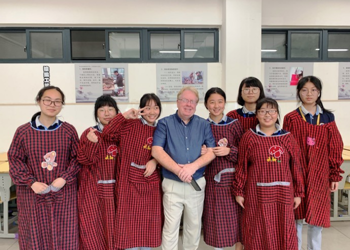 Alan Visiting a School in China