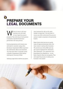 6 Steps to Prepare a Business For Sale page 11