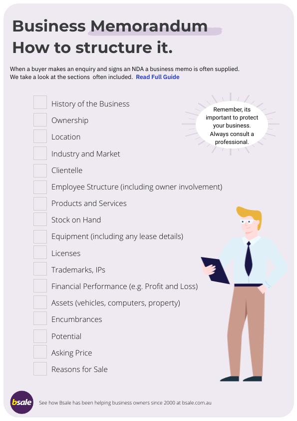 Business Memorandum Checklist